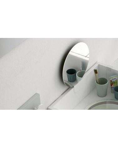 Espejo Redondo Colección Arco Iris+ Soporte para Mueble de Higiene Montessori de Ros