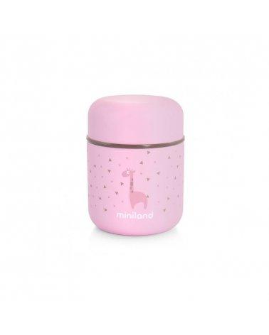 Termo de sólidos Silky 280 ml de Miniland en Rosa