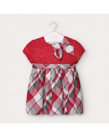 Vestido combinado tricot Mayoral