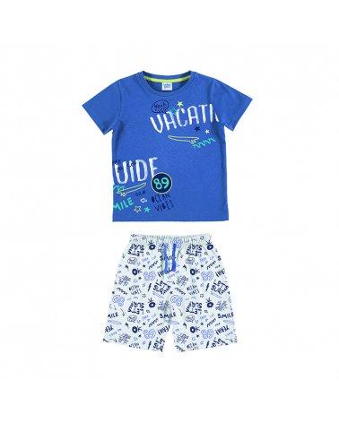 """Pijama Inf. Niño M/C-P/C """"Let'S Surf"""" Tobogan"""