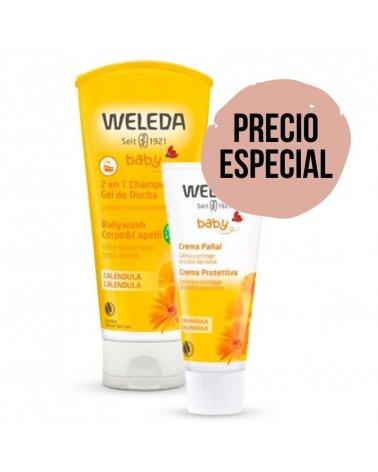Pack Caléndula Champú y Crema Pañal de Weleda