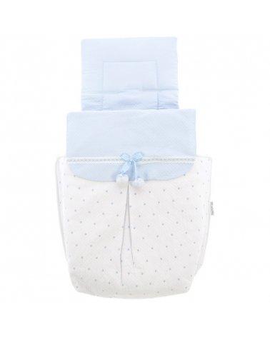 Saco para Capazo 3 usos Modelo 783 Blanco / Azul de Rosy Fuentes