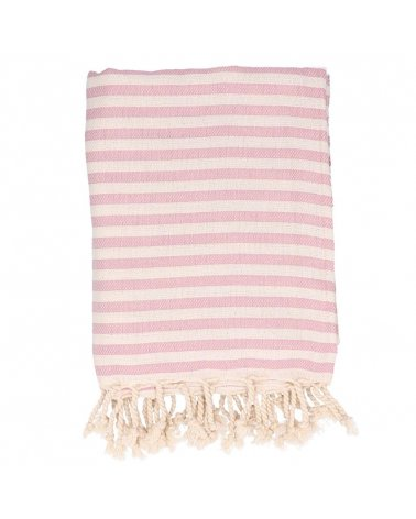 Toalla de Playa Stripes Lollipop Blush de Mönneka