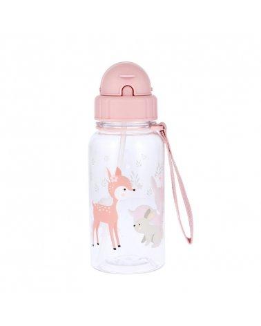 Botella de plástico con pajita de 500ml de Tutete Sweet Deer